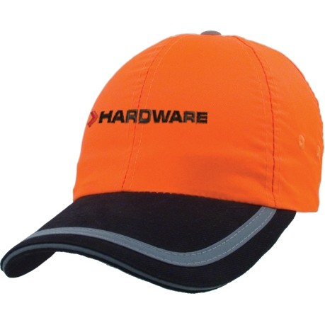6 Panel Fluorescent Polyester Safety Cap