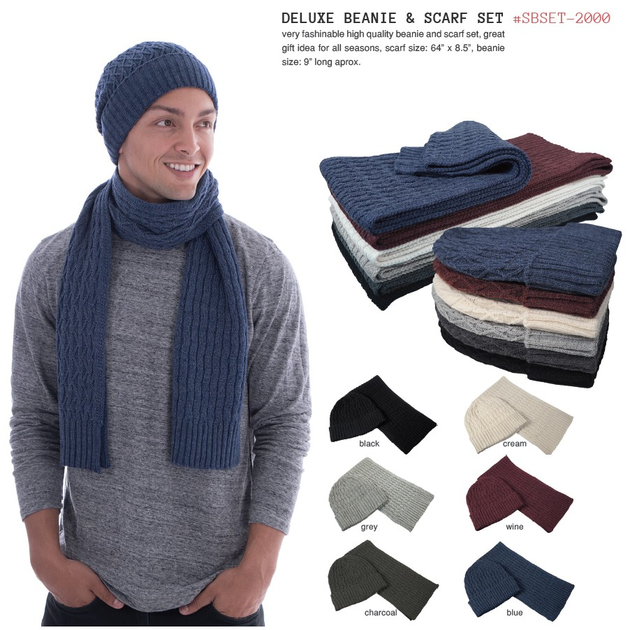 Deluxe Beanie & Scarf Set