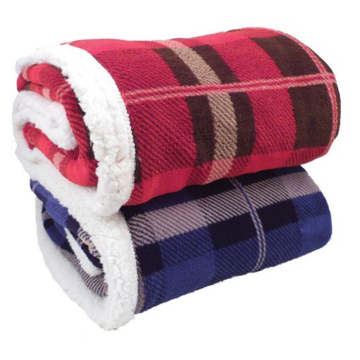 Lambswool Microsherpa Plaid Throw