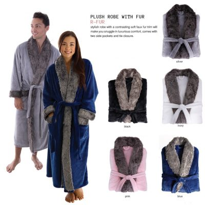 Plush Robe With Fur