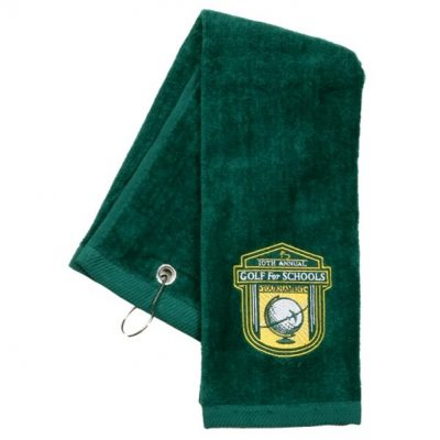 Tri Fold Sport Towel w/ Center Grommet & Hook