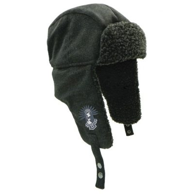 Wool Winter Hat w/ Lambswool Lining & Ear Flaps