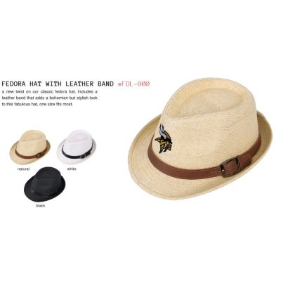 Fedora Hat W/Leather Band