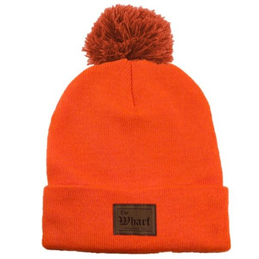 Long Knit Beanie With Pom